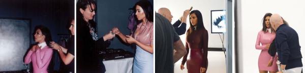 Kim a été photographiée pour le magazine Allure d'Octobre 2017. Voici les photos des coulisses.
