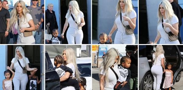 21.09.17 | Kim a été vue accompagnée de ses deux enfants pour les ammener dans une patinoire à Los Angeles. Ses deux enfants ont bien grandi, et bientôt Kim aura un 3ème enfant d'une mère porteuse. Le bébé devrait naître en janvier 2018.