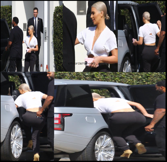 02.10.17 | Kim a été vue quittant un studio à Calabasas city. Le soir elle s'est rendue dans un restaurant à Brentwood.