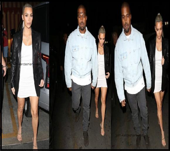 26 octobre 2017 :  Pour fêter son anniversaire, Kim & Kanye (puis Kourtney, pas sur les photo) se sont rendues dans le restaurant arménien Carousel à Los Angeles