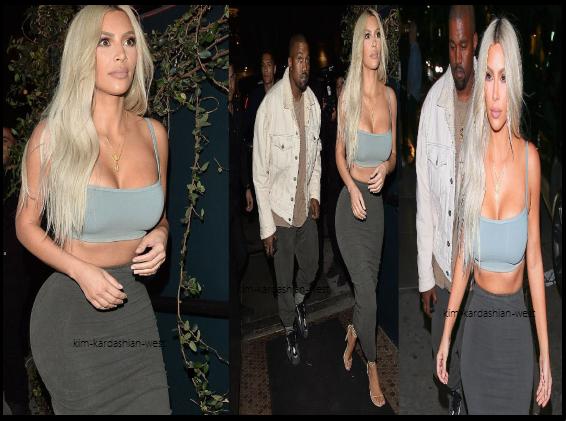 2 novembre: Kim a été apperçue se rendre au Jimmel Kimmel Live, puis ensuite elle a commencé le show avec Jennifer Laurence, le soir elle s'est rendue au restaurant pour la soirée d'anniversaire de Kendall Jenner, sa soeur.