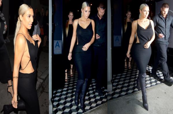 18 novembre : Kim a été apperçue quittant le restaurant Craig's à Los Angeles. Magnifique !