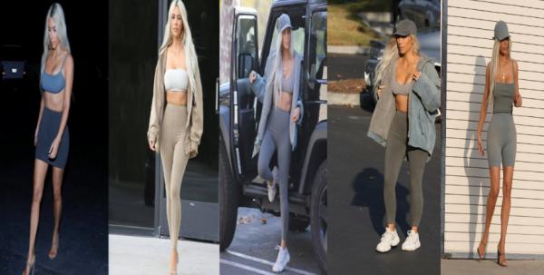 Enfin de nouvelles photos de Kim qui a été vue le 28 novembre, et ce jour là, Kim s'est amusée à se changer plusieurs fois dans une seule journée. Elle porte la collection de vetements que Kanye a crée.