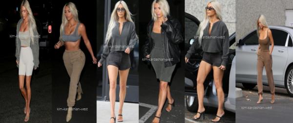 30.11.17 : Pour faire de la pub à la collection Yeezy de Kanye, Kim a porté plusieurs tenues de la marque à Los Angeles. Sublime !!!