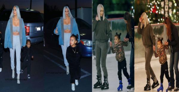 Le 23 decembre, Kim a été vue se rendant à la patinoire de Los Angeles avec ses deux enfants. Cela faisait longtemps qu'on avait pas eu de nouvelles photos !