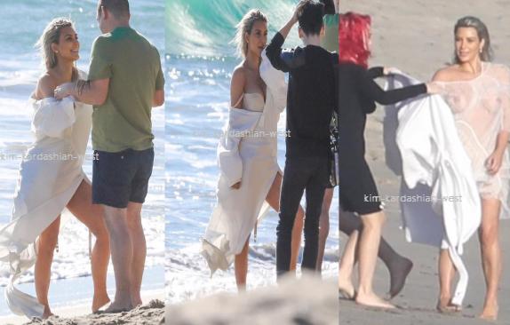 ↓ Kim a réalisé un shoot à Malibu récemment. Hate de voir les photos !