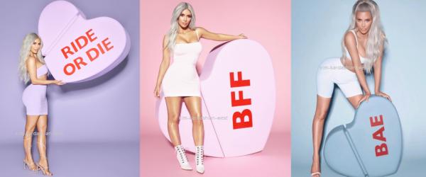 """A l'occasion de la St Valentin, Kim sort 3 nouveaux parfums """"Ride Or Die"""" """"Bae"""", """"BFF"""" en édition limitée."""