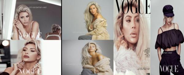 ↑↓ Kim apparait en couverture du magazine Vogue edition taiwan, et les photos sont justes magnifiques !