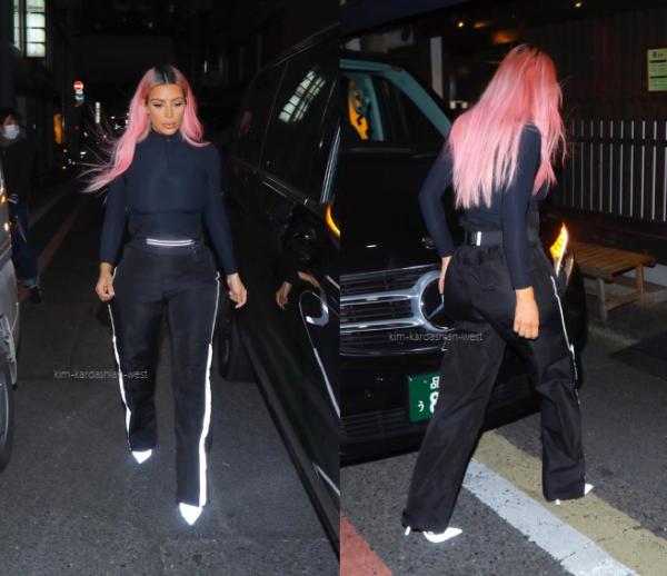 02.03.18 : Kim a été apperçue se rendre dans un restaurant à Tokyo.