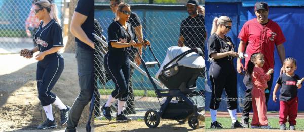 <==== 08.03.18 :Kim est allée faire du baseball, accompagnés de ses enfants.