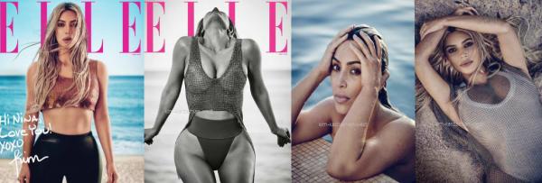 ELLE : Kim fait la couverture du célèbre magazine, j'adore les photos ! Elle est sublime !