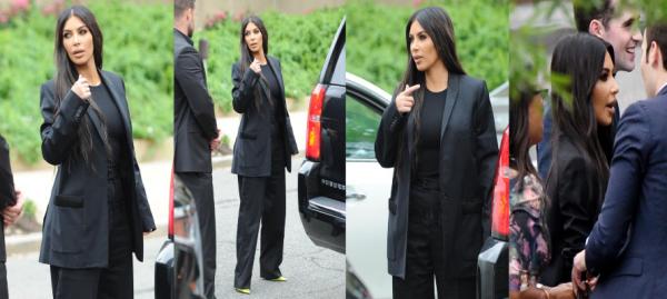 Le 22 mai Kim a été vue à Disneyland avec ses enfants.