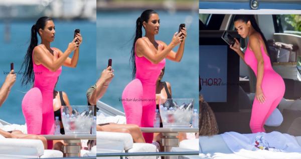 Kim, Larsa & Marcus à la plage de Miami  ! (pas sur les photos !)