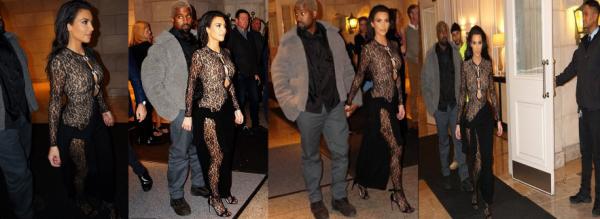 13.01.19: Kim a été appreçue quittant une soirée organisé par John Legend aux cotés de Kanye. Pas fan de la tenue cependant !
