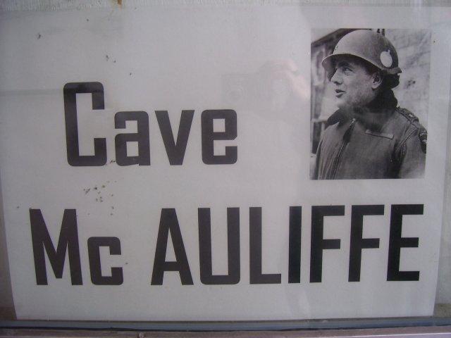 Cave McAuliffe (MRA - Base Bastogne)