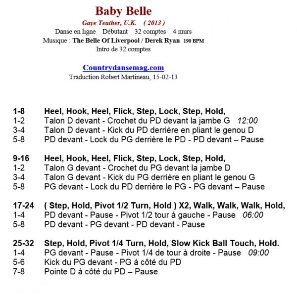 BABY BELLE par Derek Ryan