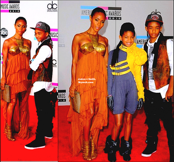 Jaden,sa mère et Willow Smith étaient aus Americans Music Awards !