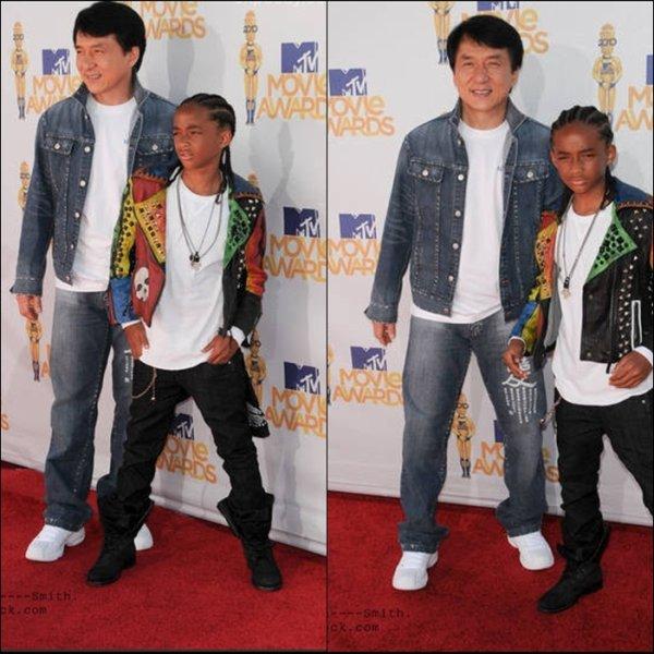 Jaden et Mr.Chan étaient tous deux sur le tapis rouge à l'une des avants première de Karate Kid (l) !