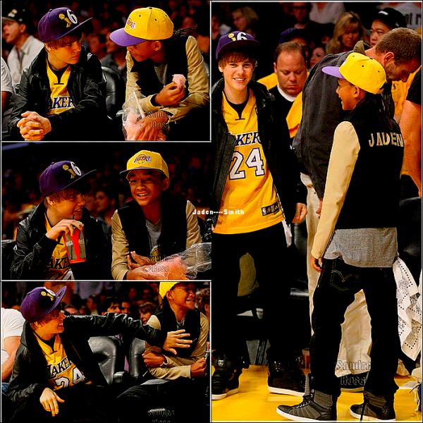 Jaden et Justin était à un match de BASKETS ( les Lakers ) :D Bah dis donc les gars,vous avez suivi quelque chose ?