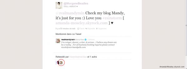 ♦ OHMYFUCKINGGASH ! Mandy connais le blog :D ― ― ― ― ― ― ― ― ♣ @SplendidHudgens