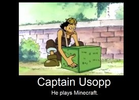 Cap'tain Usopp joue à Minecraft !