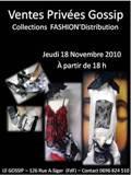 "Collections ""FASHION'Distribution"" au GOSSIP(FdF)"