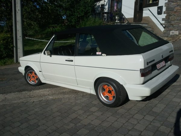 GOLF ONE RESTO GERMAN LOOK ENFIN AVEC SA NEW CAPOTE