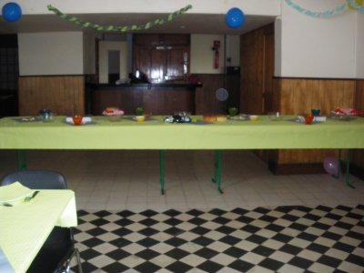 La salle du baptéme