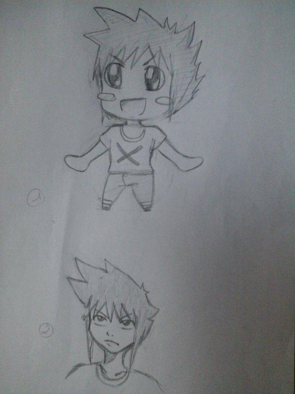 dessins faits rapidement au crayon.