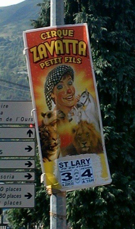 Exclusivité Affiche Cirque Zavatta Petit Fils 2011