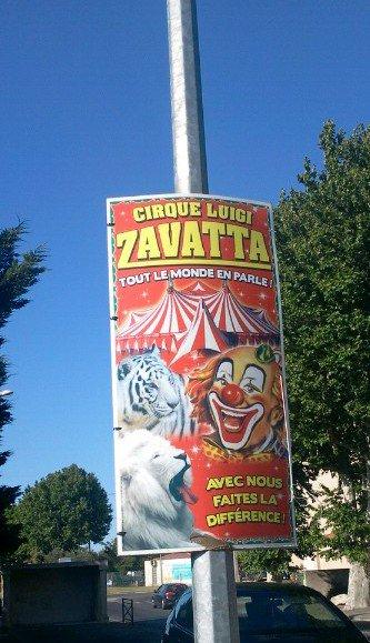 Affiche Cirque Luigi Zavatta 2011 Exclusivité