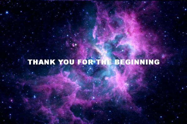 THANK YOU THE THE BEGINNING