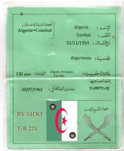 la carte identity de l algerie