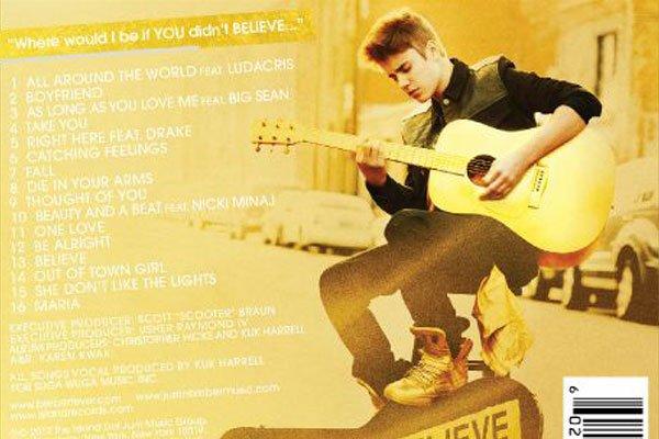 BELIEVE LE NOUVEL ALBUM DE JUSTIN BIEBER PREVUE POUR LE 19 JUIN 2012
