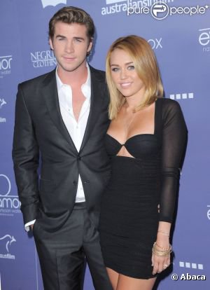 "MILEY CYRUS ET LIAM HEMSWORTH LE 27 JUIN 2012 A LA SOIREE "" LOS ANGELES IN FILM"""
