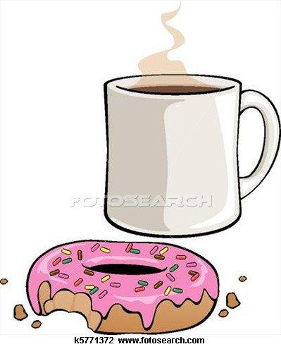 donut avec un tase