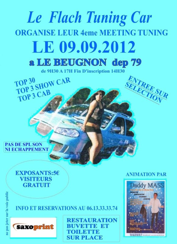 meeting du flach tuning car