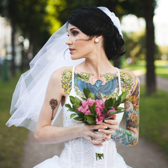 Qui dit qu'une femme tatoué ne peut être marièe ?.