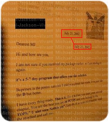 • La fameuse lettre.; http://Michael-Jackson--Vivant.skyrock.com/