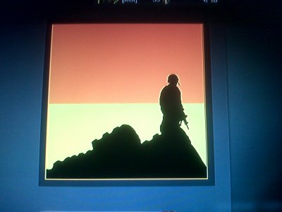 soldat du soleil couchant