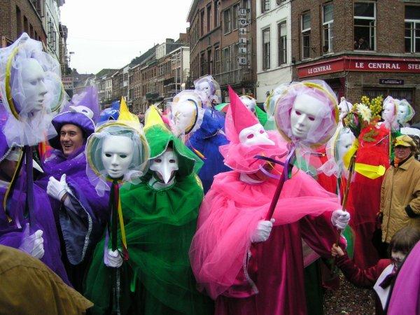 Le carnaval de Binche photo récente: les masques