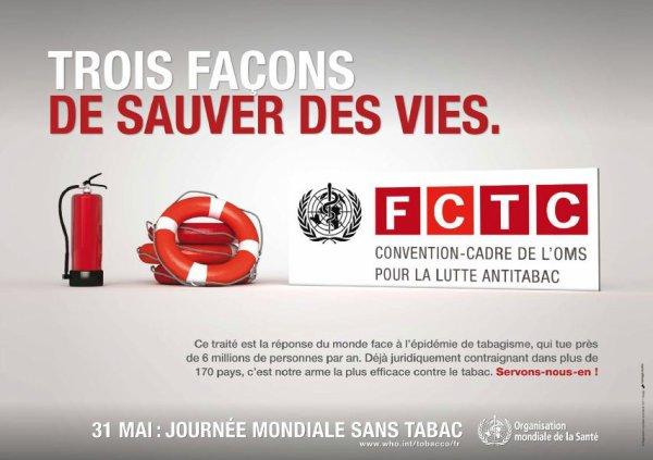 Bonjour, aujourd'hui, c'est la journée mondiale sans tabac