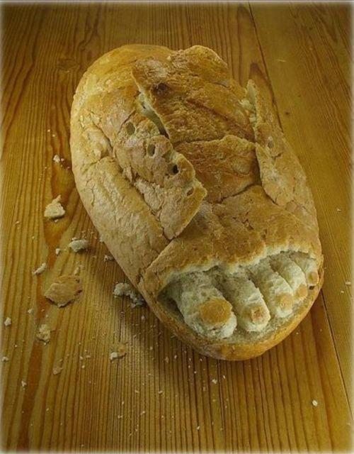 Aujourd'hui, les sculptures de pain.