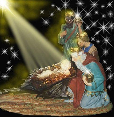Bonjour à touts et à toutes, en ce jour de l'Epiphanie profitons-en pour mettre quelques gifs des rois mages et de la galette des rois.