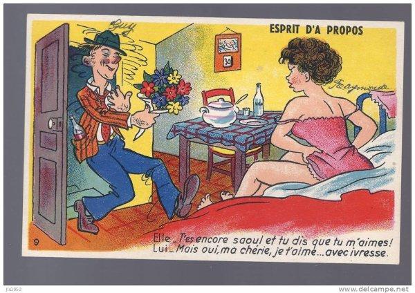 anciennes cartes postales humoristiques mon petit monde. Black Bedroom Furniture Sets. Home Design Ideas