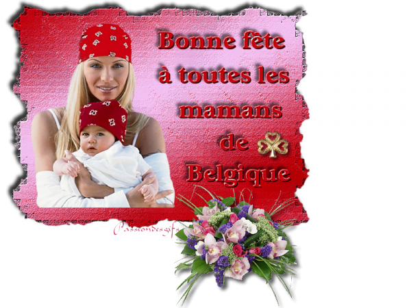 Bonne fête à toutes les mamans de Belgique