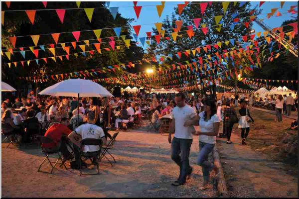 Grande fête populaire en France