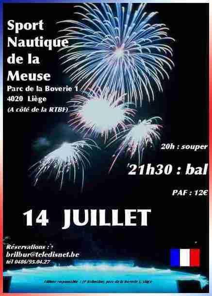 Affiche annonçant les festivités à Liège