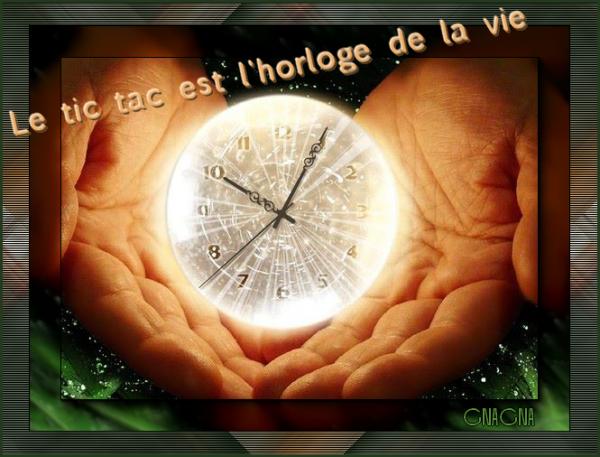 Le tic tac est l'horloge de la vie
