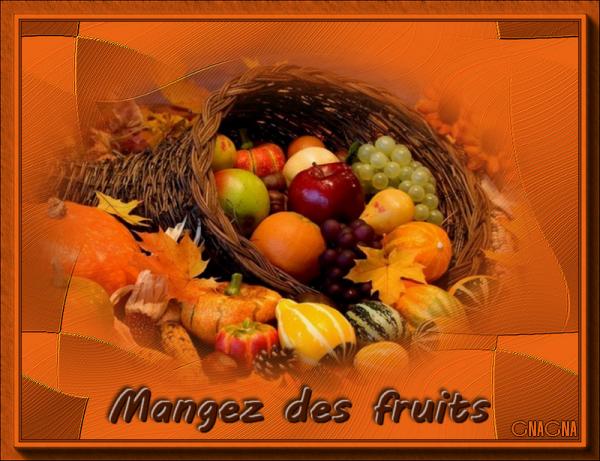 Bonjour, mangez des fruits